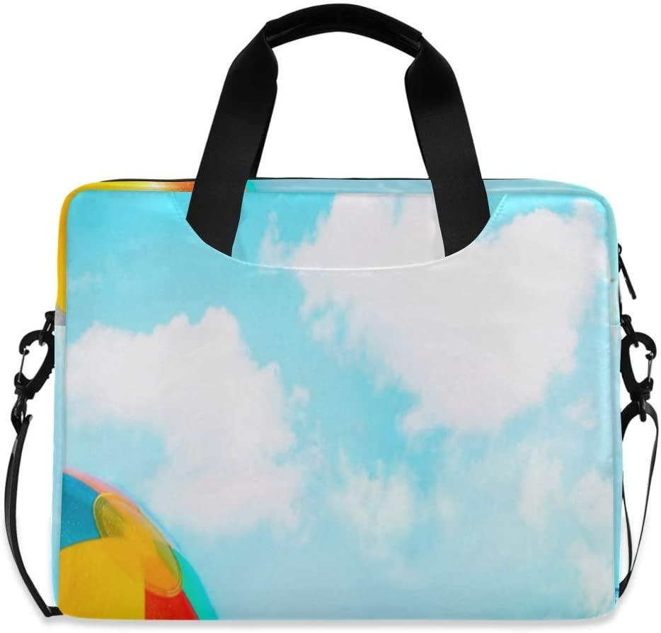 Laptop Bag, Summer Season Beach View Laptop Briefcase Bag, 16 Inch Slim Laptop Backpack Laptop Case