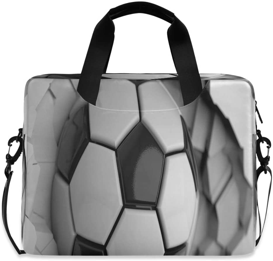 Unique Soccer Ball Crash Football Laptop Bag Protective Case Computer Messenger Briefcase Women Men 16