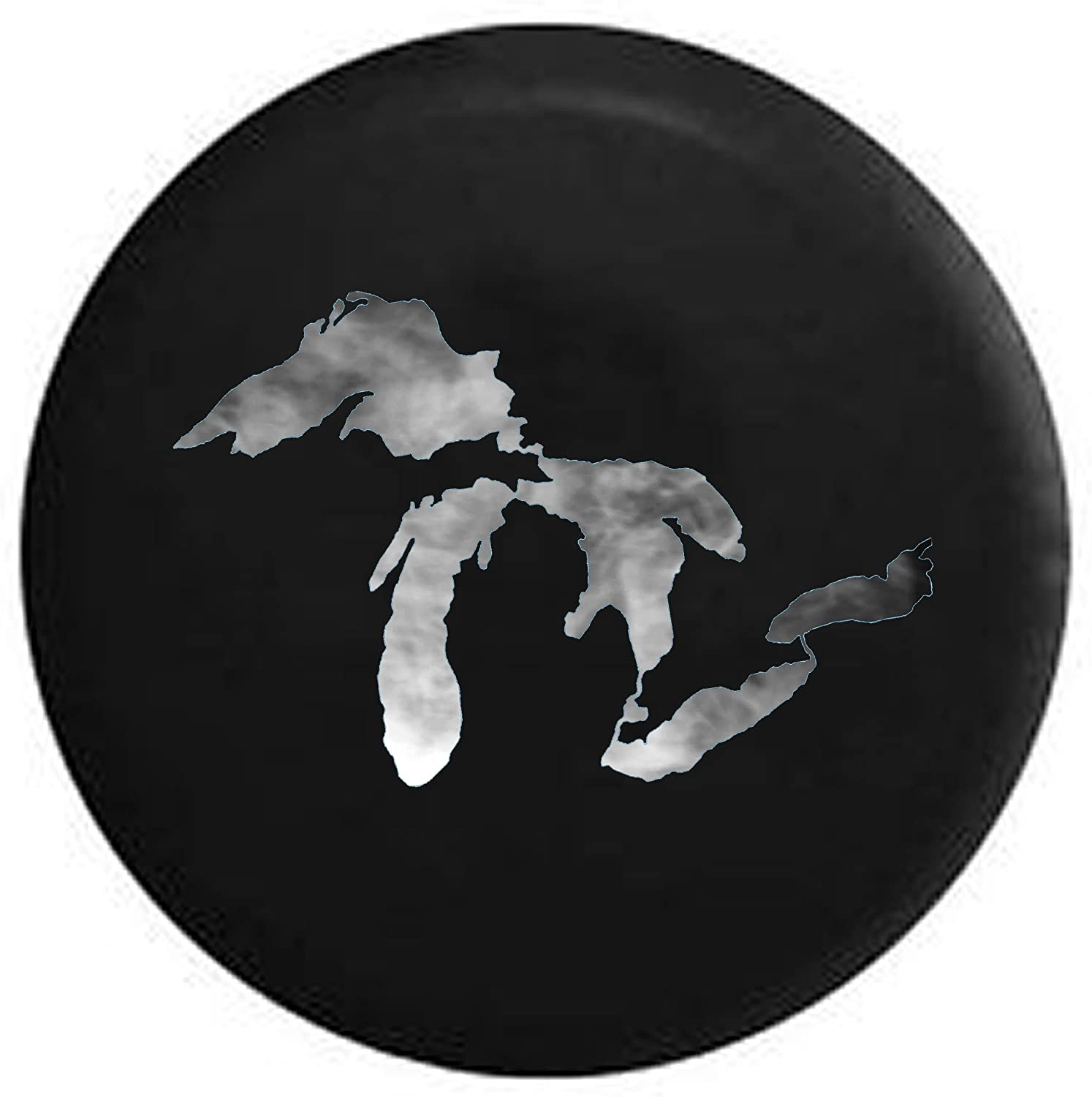 Spare Tire Cover Smoke on The Water - Michigan Great Lakes (Fits: SUVs Camper Accessories RV Accessories Size 29 Inch