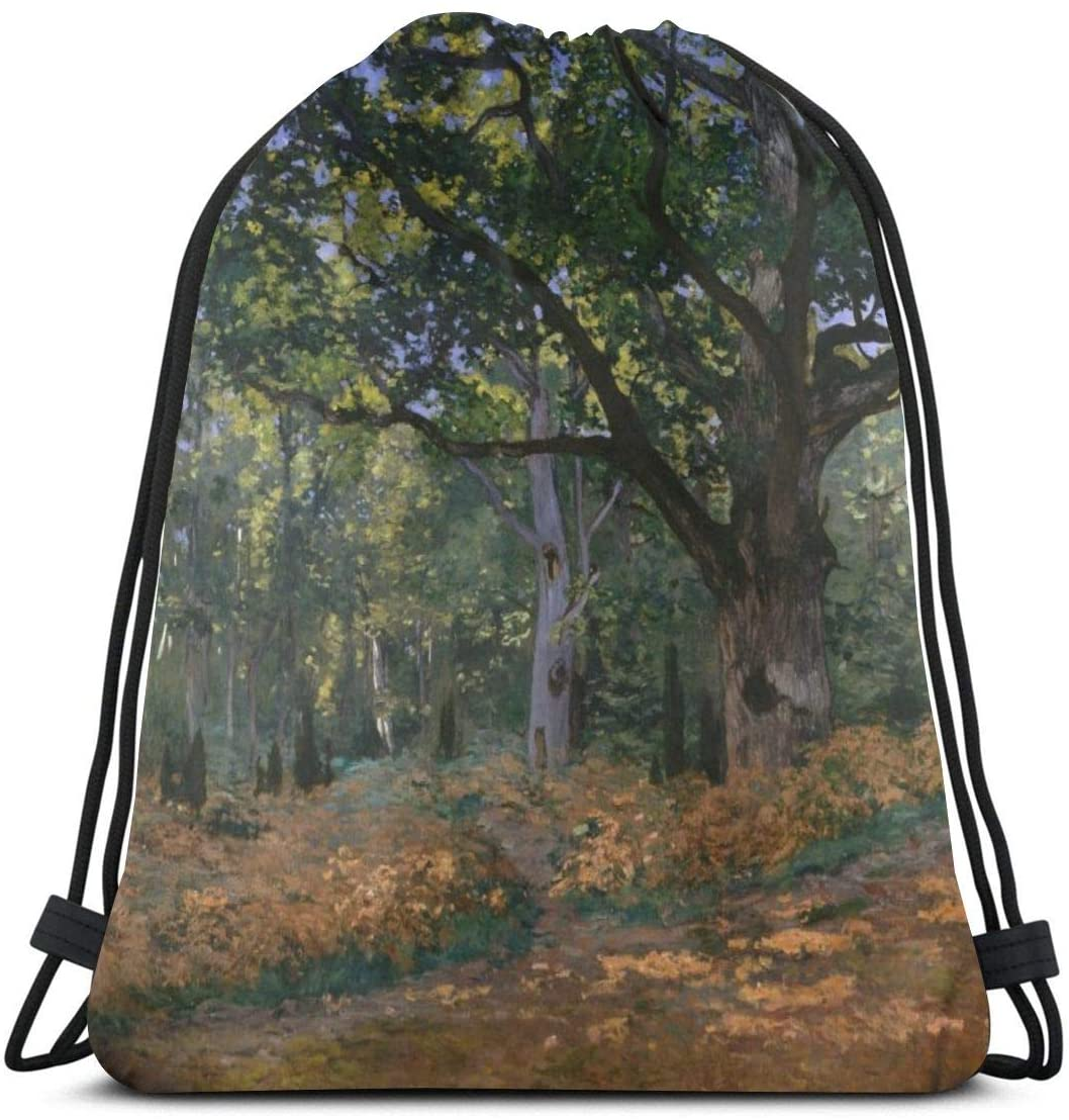 Backpack Drawstring Bags Cinch Sack String Bag Claude Monet Impressionism World Famous Paintings Sackpack For Beach Sport Gym Travel Yoga Camping Shopping School Hiking Men Women