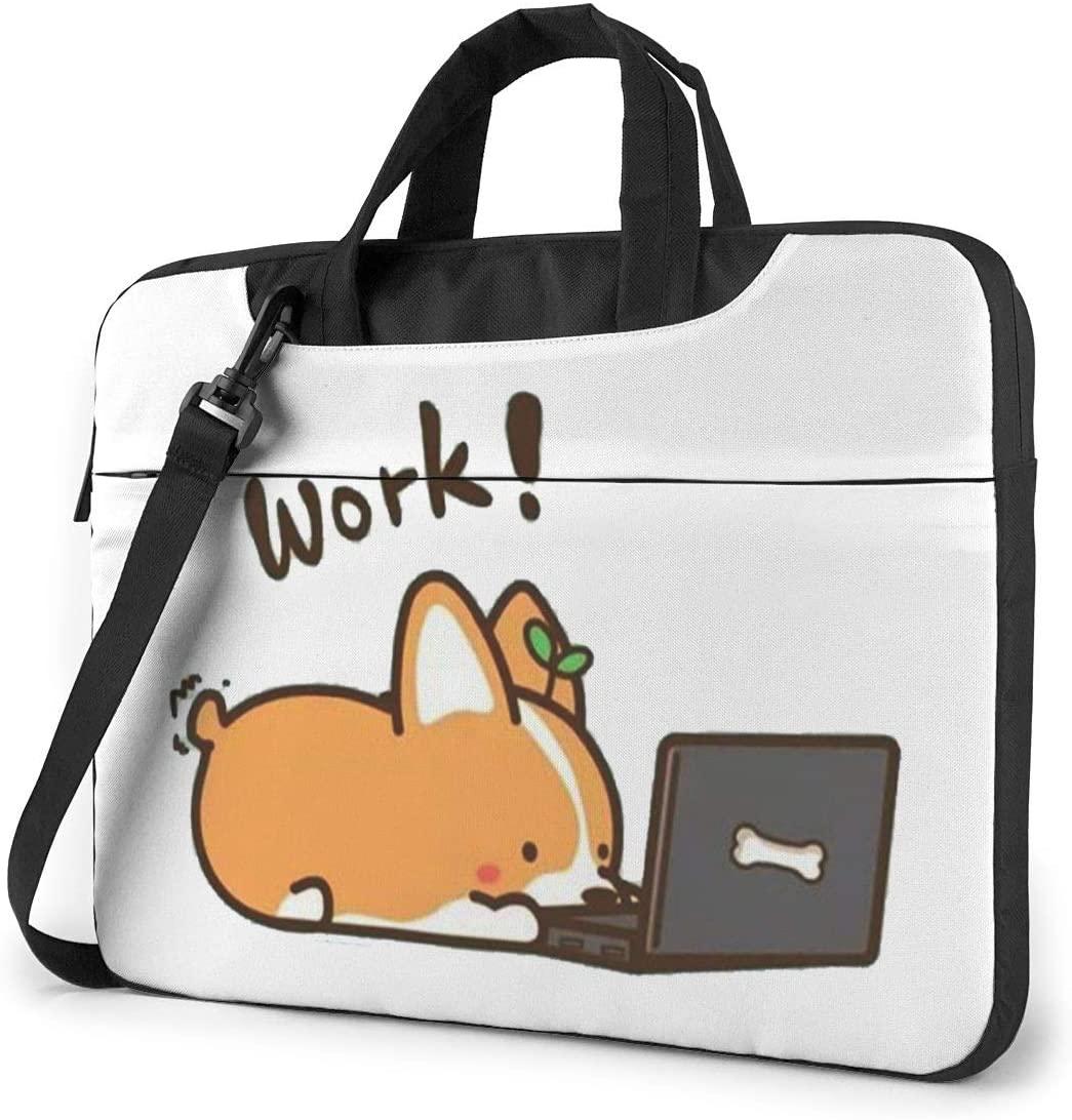 Cute Dog Work Wallpaper Laptop Shoulder Bag with Handle Carrying Messenger Handbag