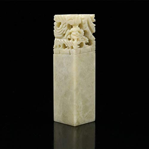 Qingtian Stone Seal Square Chinese Calligraphy Chop Personal Name Carving Engraving Dragon Phoenix(Multi Size)