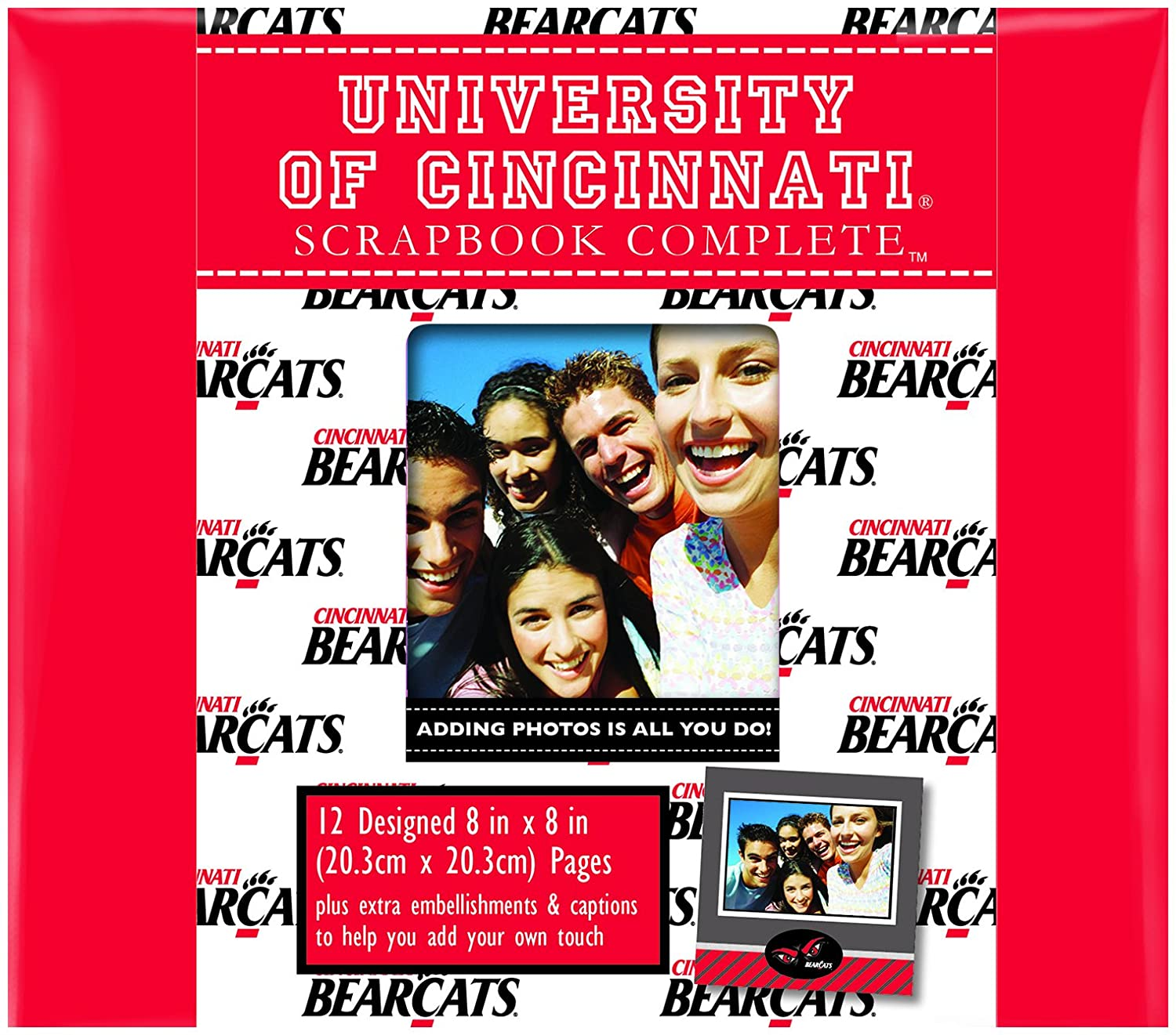 C.R. Gibson Scrapbook Complete Kit, Small, Cincinnati Bearcats (C878358M)