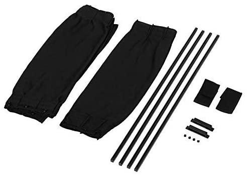 2 pcs Black Adjustable Car Sun Curtain Window Curtain Curtain Visor Valance Curtain (Black)
