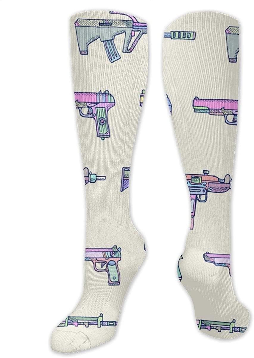 Weapons Gun Athletic Socks Thigh Stockings Over Knee Leg High Socks
