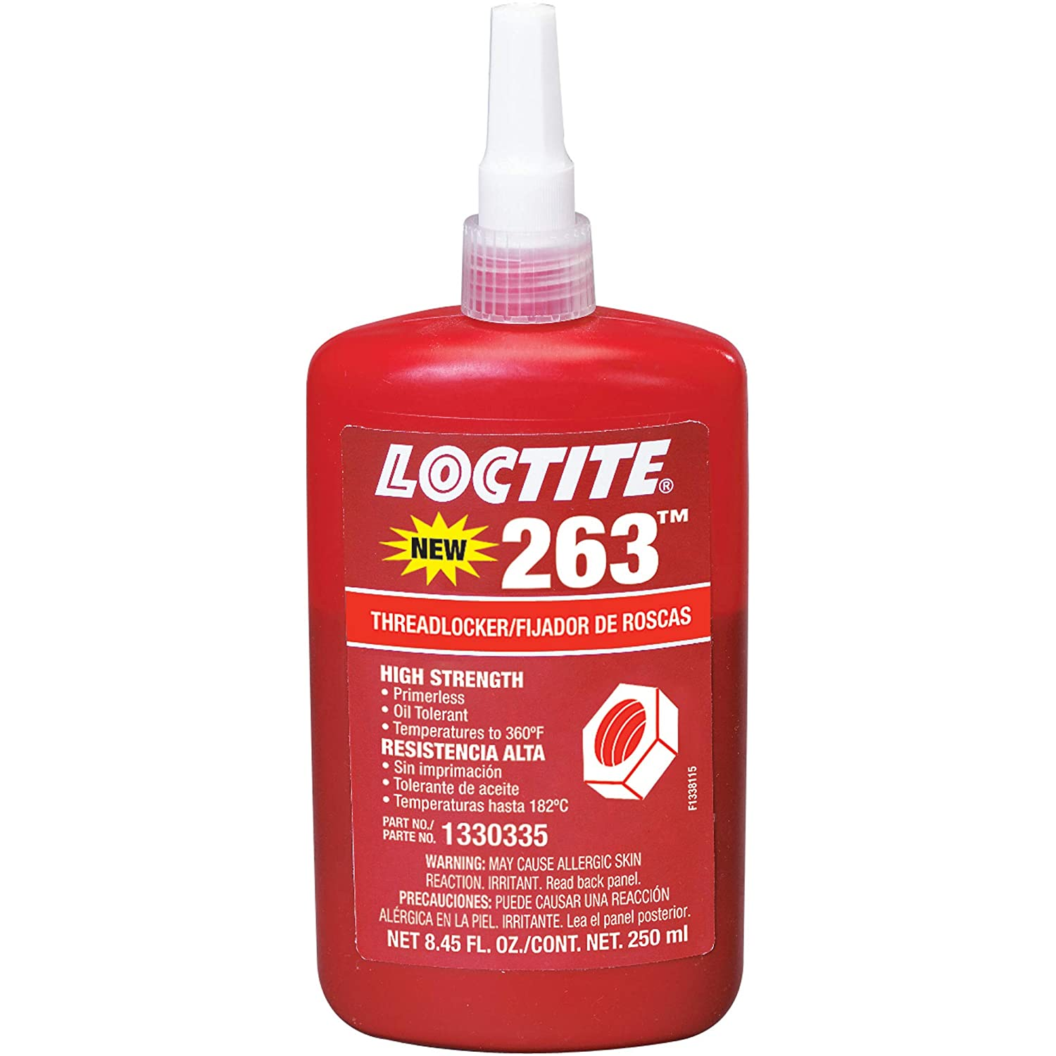 1330335 Loctite Primerless Threadlocker 263, 250mL, Red