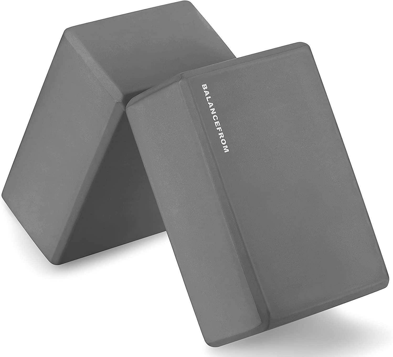 LUOLUO Yoga Set of 2 High Density Yoga Blocks, 9