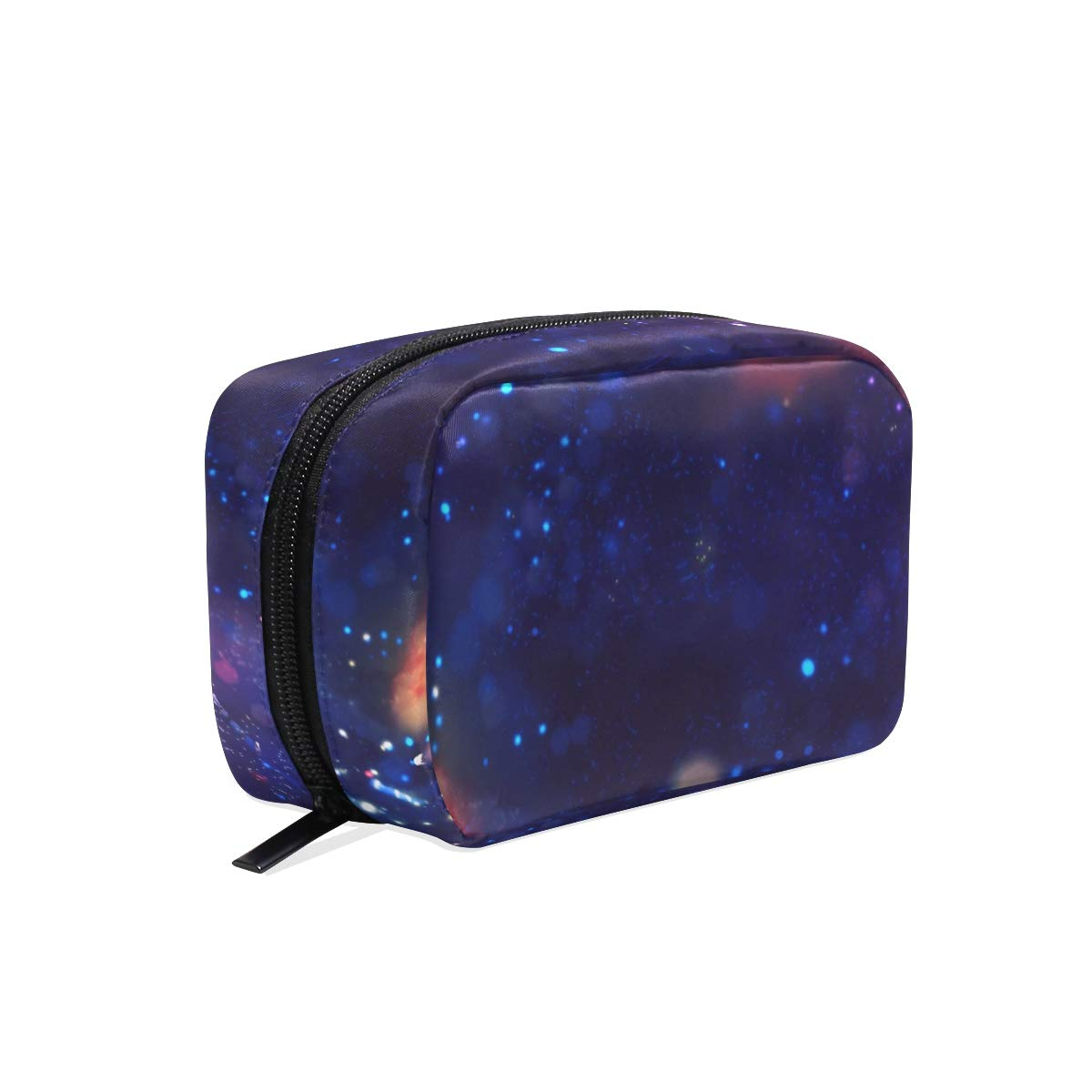 ILEEY Red And Blue Abstract Texture Cosmetic Pouch Clutch Makeup Bag Travel Organizer Case Toiletry Pouch for Women