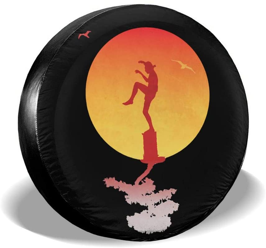 Adsfghrehr The Karate Kid Spare Tire Cover Universal Spare Wheel Tire Covers for Jeep, Rv, SUV, Trailer, Truck