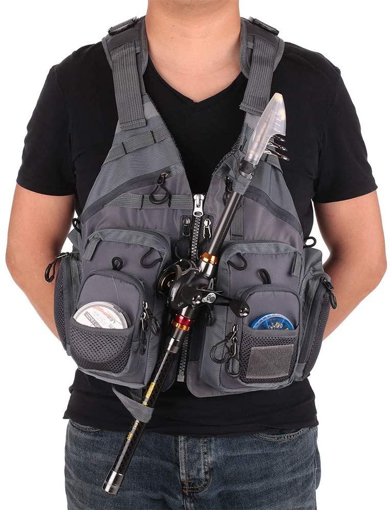 JTKENS Life Vest for Rescue Sea Life Jacket Fishing Outdoor Sport Flying Men Respiratory Jacket Safety Vest Survival Utility Vest