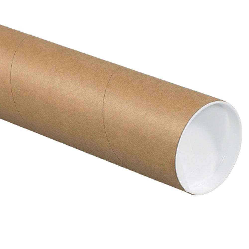 Aviditi Kraft Heavy Duty Mailing Tubes with Caps, 4