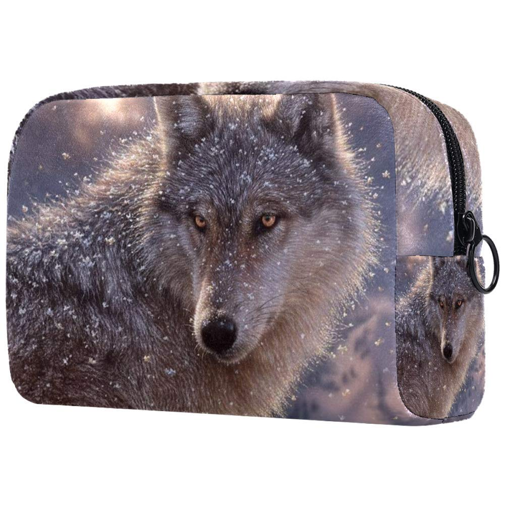 Wolf Makeup Bags Portable Tote Cosmetics Bag Travel Cosmetic Organizer Toiletry Bag Make-up Cases for Women