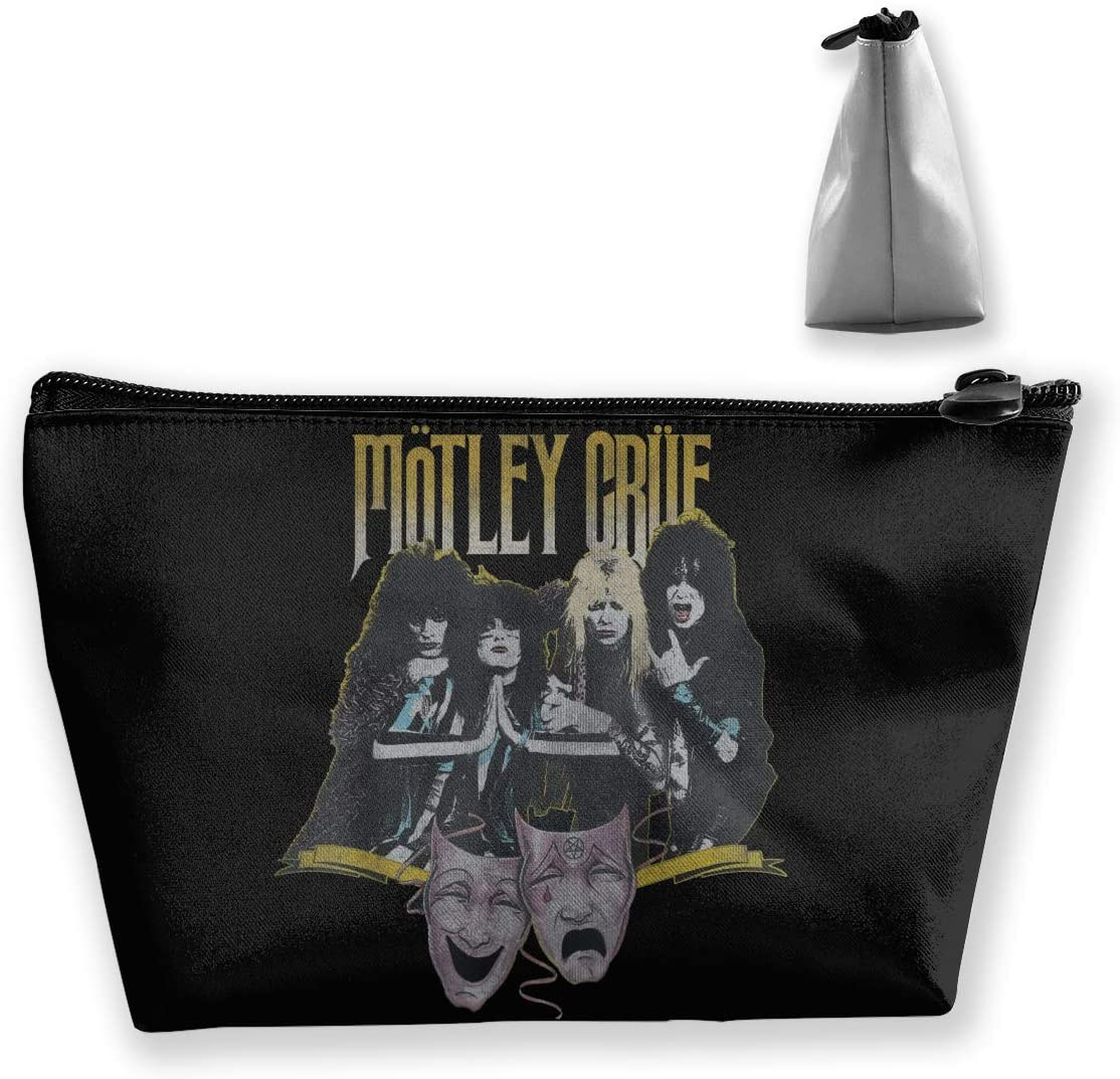Lmlfes Motley Crue Trapezoid Storage Bag, Hand Bag, Travel Toiletry Bag with Hanging Zipper.