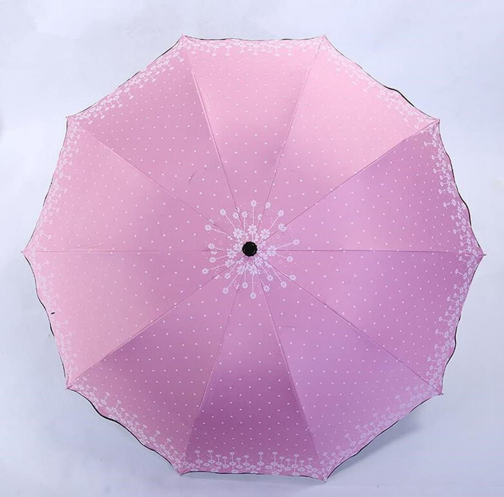Sucastle Outdoor, anti-ultraviolet, floral, sunny rain, umbrella, lace, folding, umbrella, creative, umbrella Sucastle:Colour:Pink:size:Umbrella under the diameter; 106cm: Shoulong; 26cm