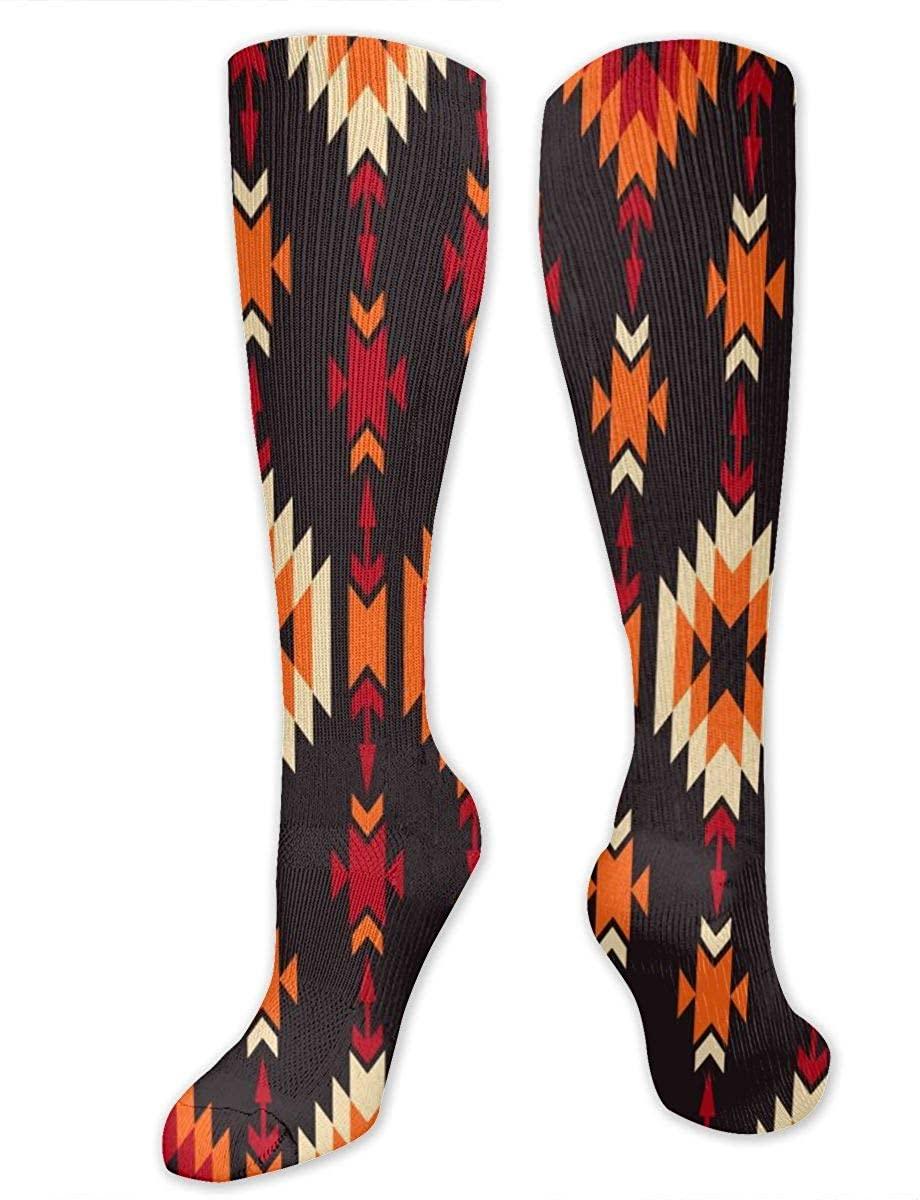Colorful Tribal Geometric Athletic Socks Thigh Stockings Over Knee Leg High Socks