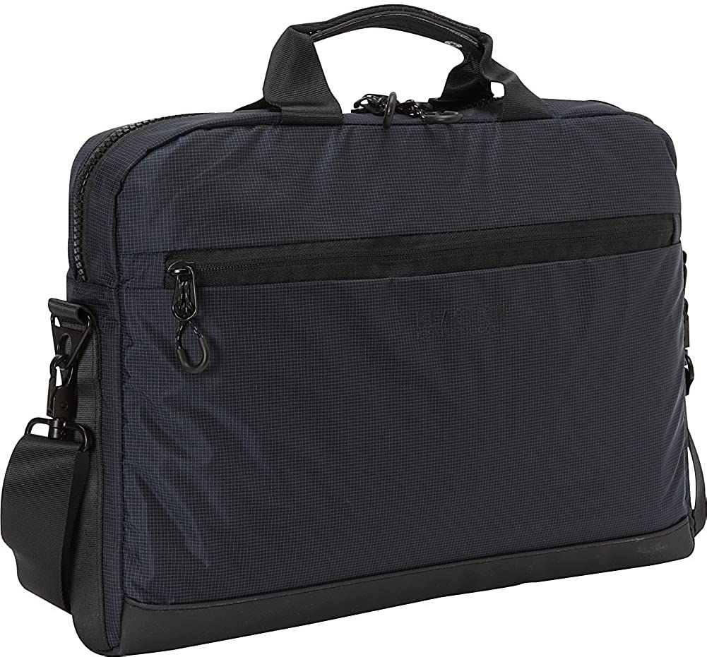 Kenneth Cole Reaction Birth Two-Tone Silky Polyster Single Compartment 15.6 Laptop Case, Navy