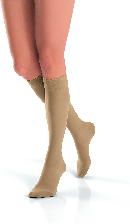 JOBST UltraSheer Knee High 15-20 mmHg Compression Stockings, Closed Toe, X-Large, Classic Black