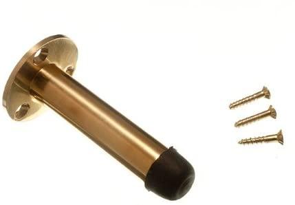 12 x DOOR STOPS SOLID BRASS PILLAR POST TYPE 75MM 3 INCH