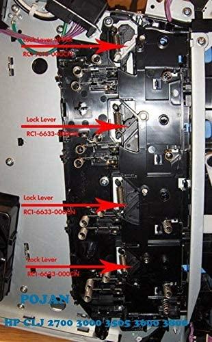 4pcs x Lock RC1-7618 RC1-6633 fit Colorlaserjet 3000 3505 3600 3800 Left Lever