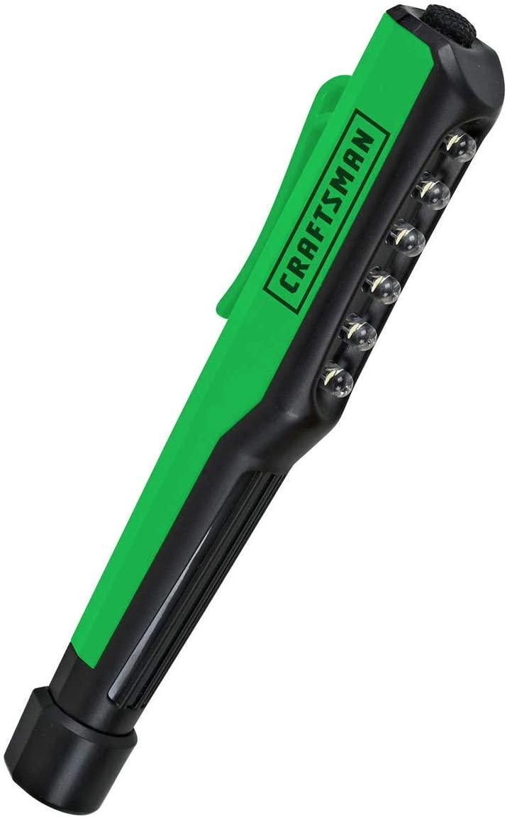 Craftsman LED Pocket Light- Handheld Magnetic Base Hand-Free - Green