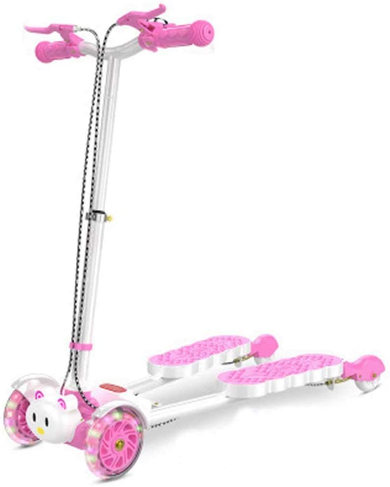HUATINGRHLW Mini Push Kick Scooter Winged Speeder Tri Wheel 3 Wheel Kick Scooter,Easy to Carry Light Weight,for Age 5-12 Sturdy