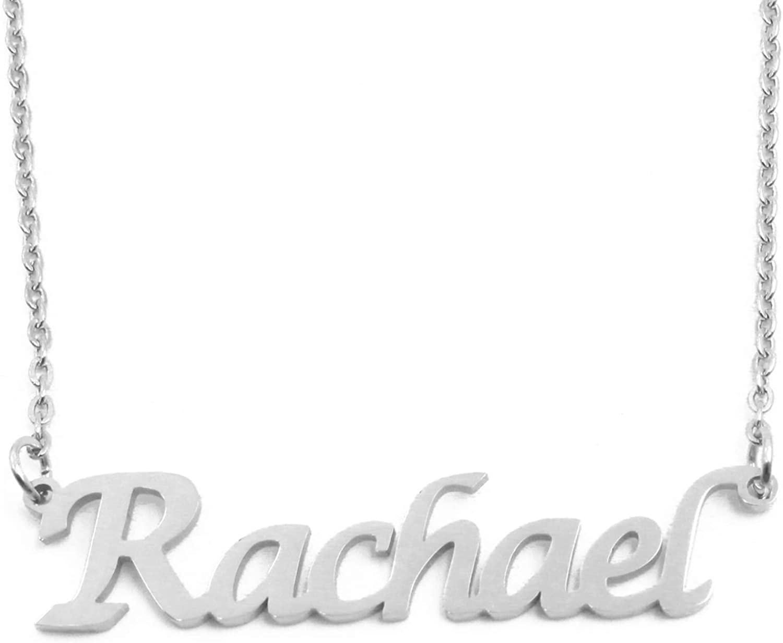 Kigu Rachael Custom Name Necklace Personalized - Silver Tone