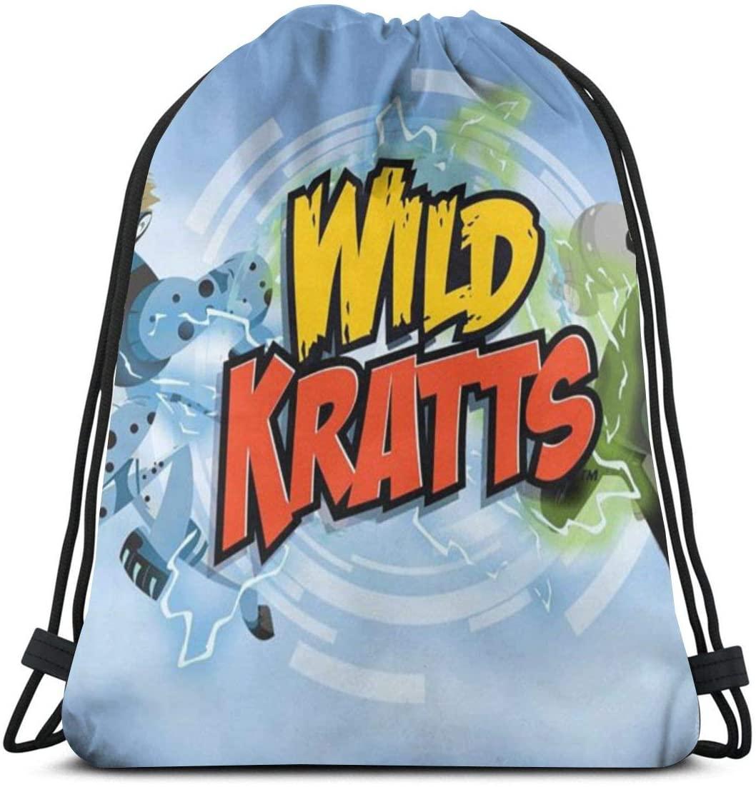 Wild Kratts Durable Drawstring Backpack Gym Sport Bag for Men & Women Gym School Travel