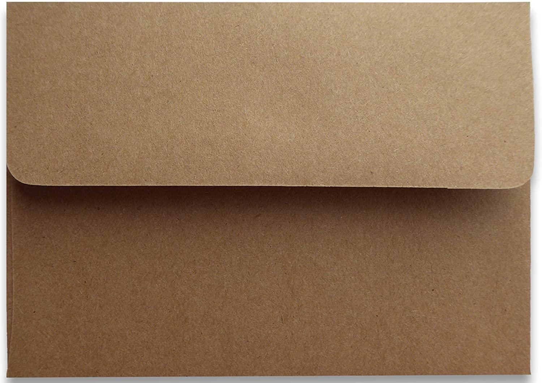 Kraft Grocery Bag Brown 25 78lb A7 (5-1/4 x 7-1/4) Envelopes for 5