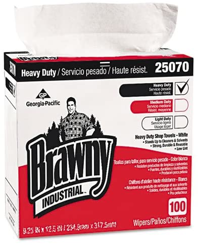 Brawny Industrial Heavy Duty Shop Towels, White