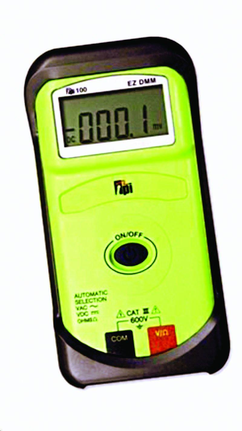 TPI 100 EZ One Button Digital Multimeter with Protective Boot, 40 Megaohms Resistance, 600V AC/DC Voltage