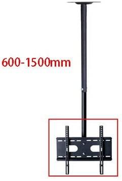 360 Degree 60-2000mm Height Adjustable 32-60 Ceiling TV Mount Bracket LED LCD Monitor Holder Max. VESA 600x400mm Loading 25kgs (Height 150cm)