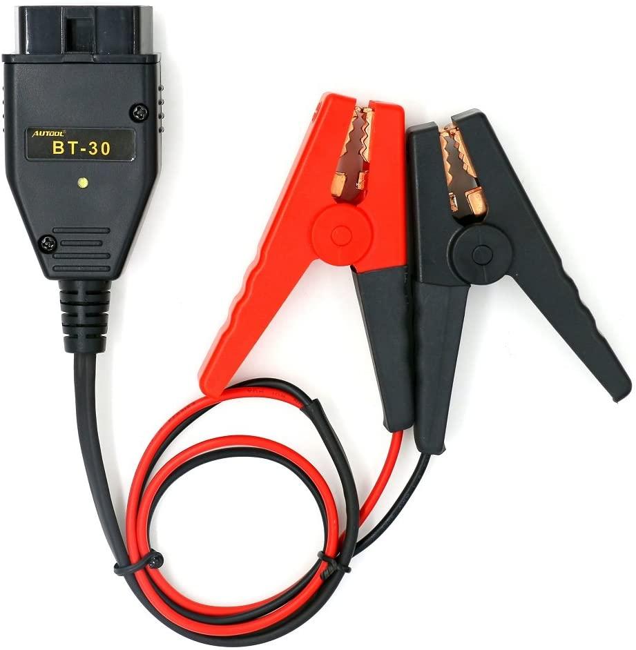 AUTOOL BT-30 Car ECU Emergency Power Supply Clip Battery Clamp OBD2 Adaptor