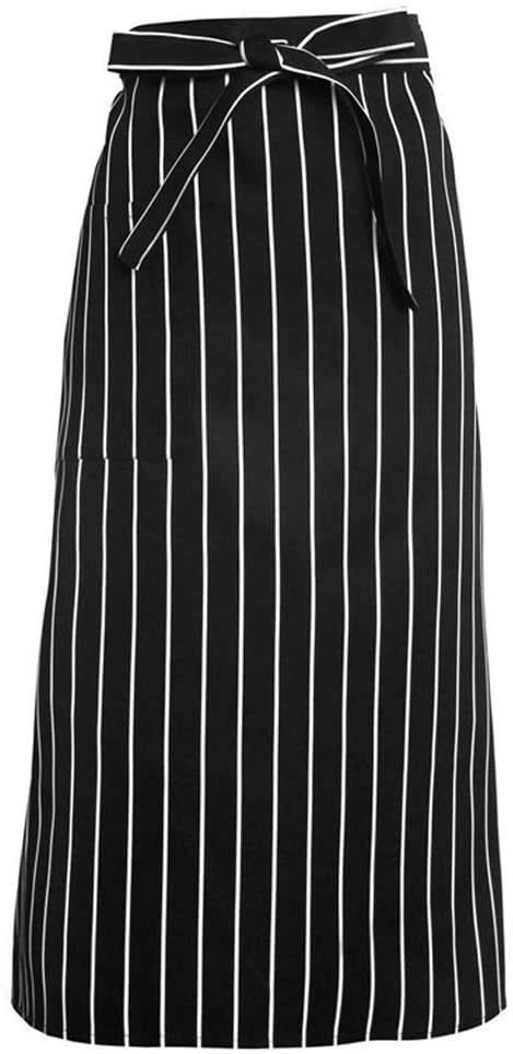 Half-length Apron Full Length Bistro Aprons W/Patch Pocket & Pencil Stall Chef Men and Women Hotel Restaurant Kitchen Overalls Halter Smock (Color : C)