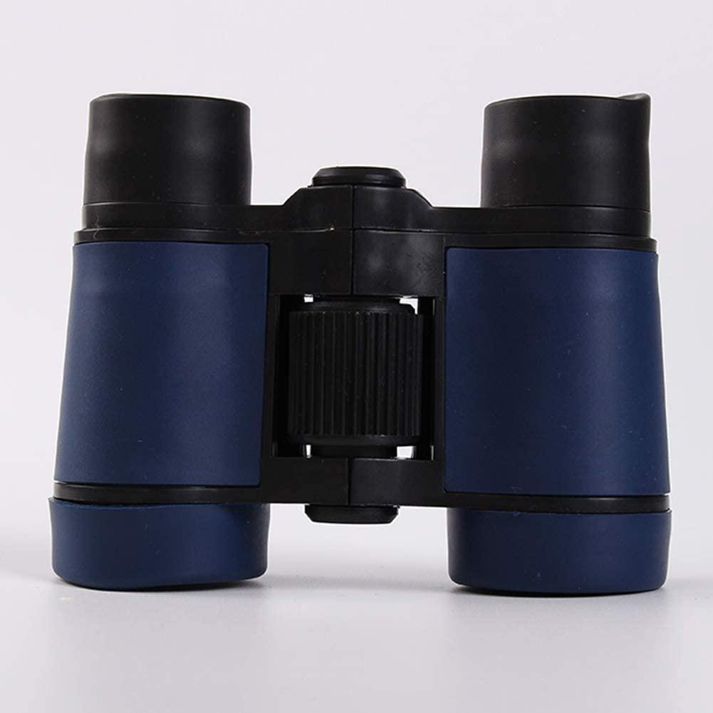 XUBA 4x30 Colorful Rubber Handle Anti-Skid Children Toy Binocular Telescope Navy Blue