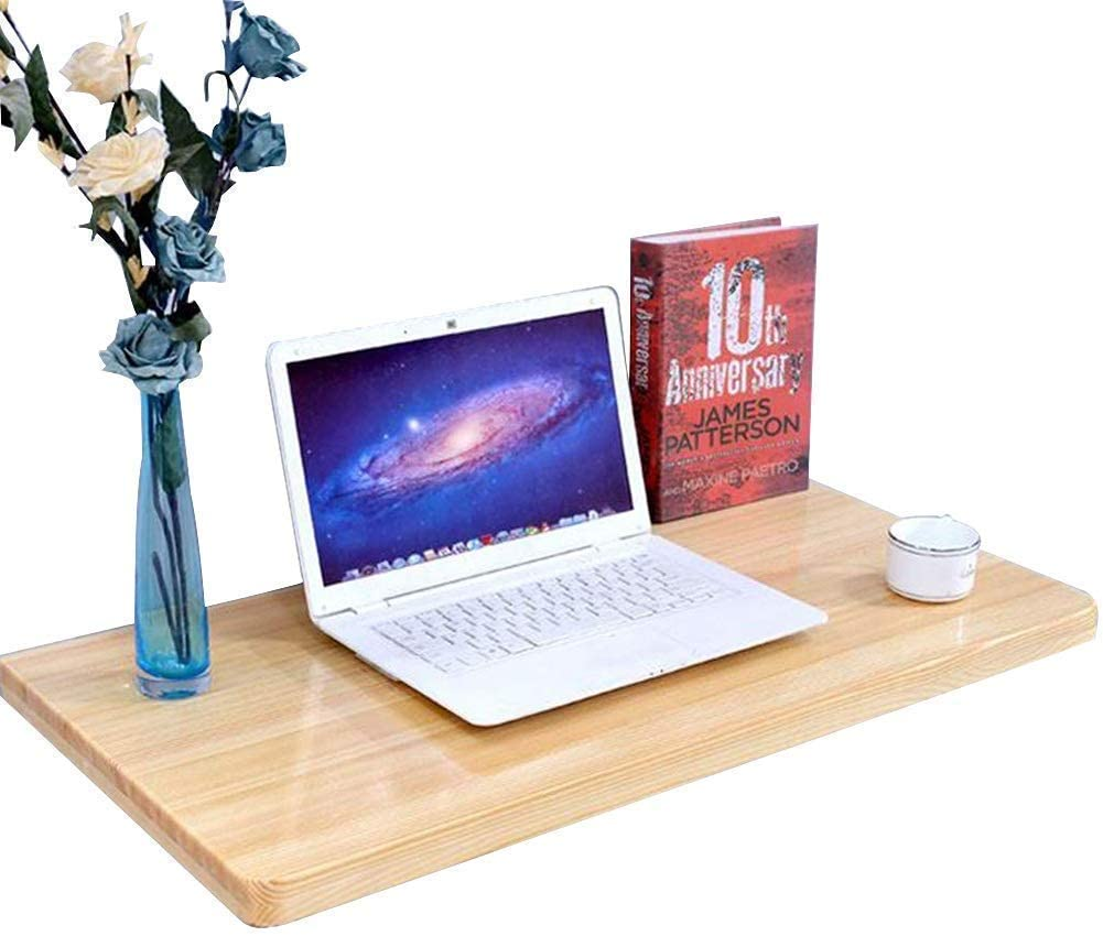 BDD Desks,Simple and Practical Simple Wallmounted Table Foldable Computer Desk Dining Table, Simple Furniture, 6 Sizes, Wood Color, 70X50Cm,
