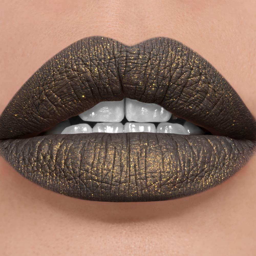 Sugarpill Matte to Sparkle Liquid Lipstick Glitter Lip Color - Dress Code (Grey)