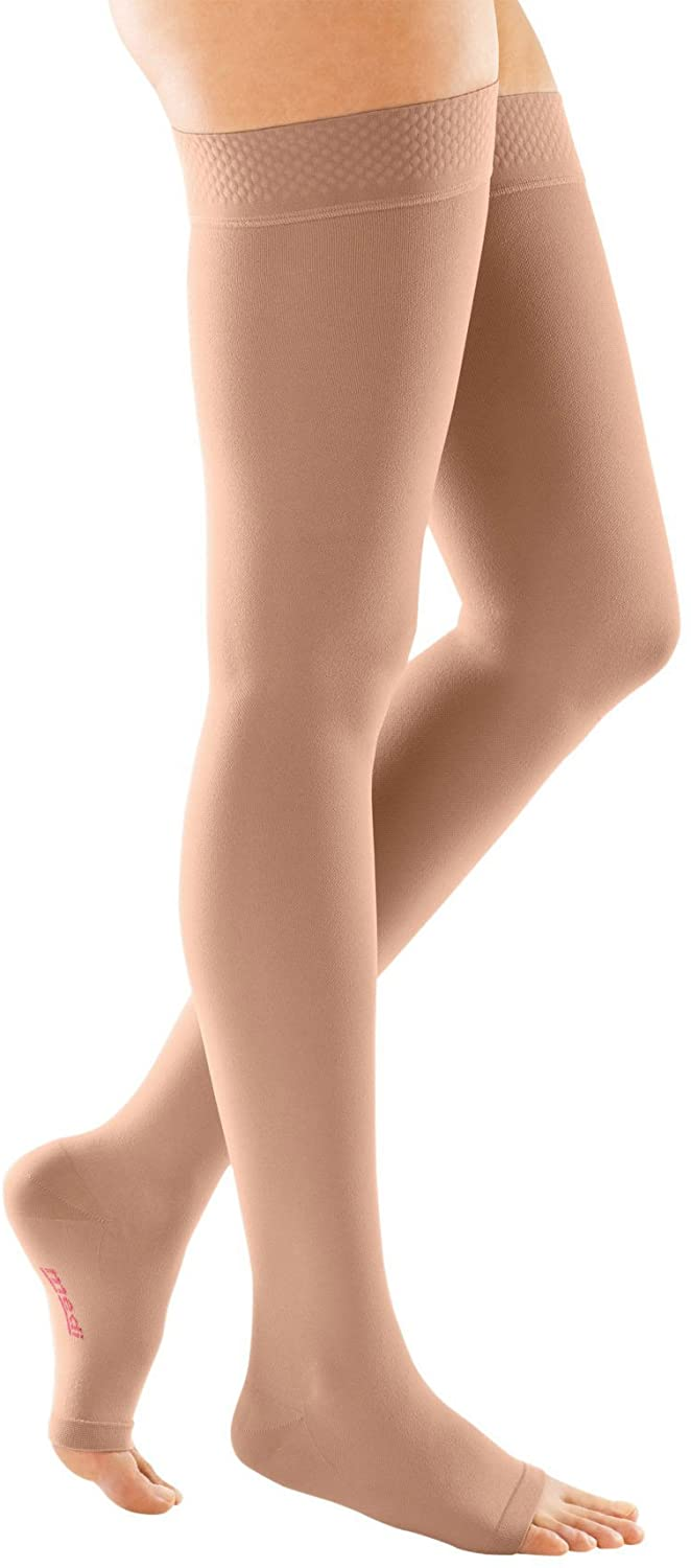 Mediven Forte 40-50 mmHg Petite Thigh High OT w/Silicone Band : Beige Size III