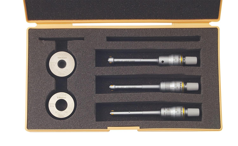 Mitutoyo 368-916 Holtest Vernier Inside Micrometer, Complete Unit Set, 0.275-0.5