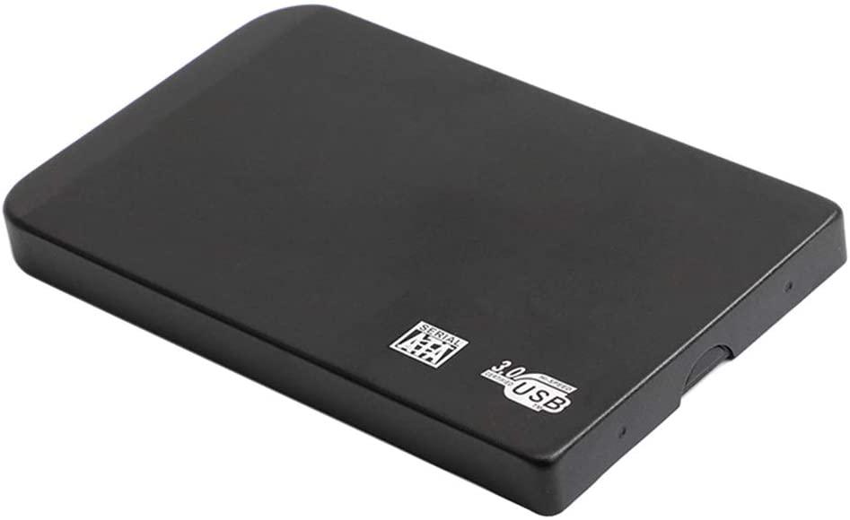 D DOLITY 2.5inch 500GB Portable External Hard Drive SATA 3.0 HDD Storage Compatible for PC, Mac, Desktop, Laptop, MacBook, Chromebook (Black)