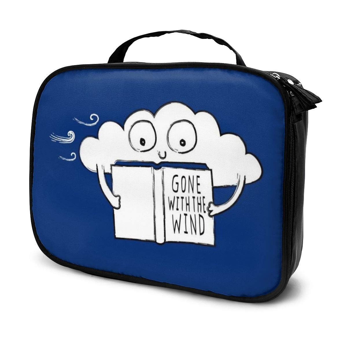 Makeup Bag Cosmetic Pouch Gone With The Wind Reading Cloud Multi-Functional Bag Travel Kit