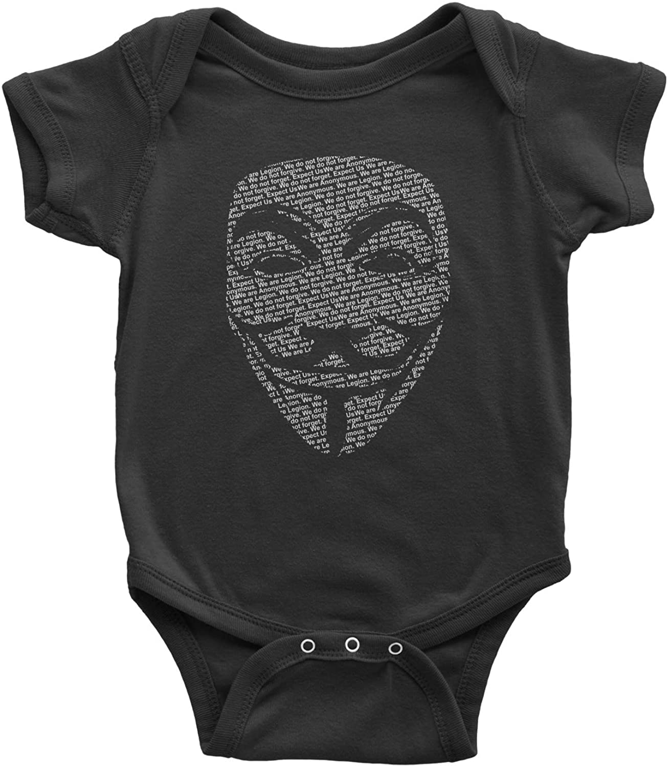 Expression Tees V for Vendetta Anonymous Mask Infant One-Piece Romper Bodysuit