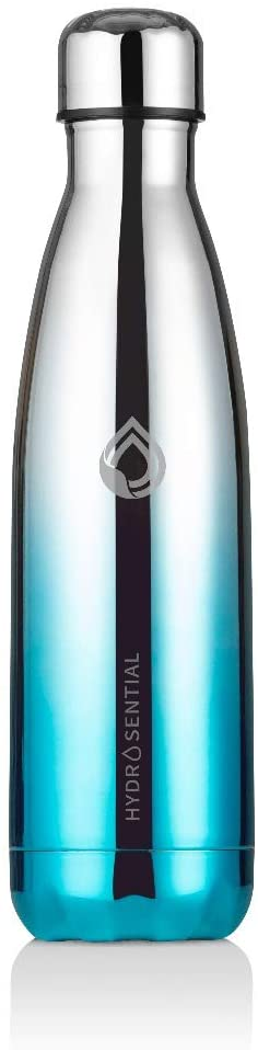 Hydrosential Stainless Steel Water Bottle | 17oz Stainless Steel Vacuum Insulated Water Bottle | Leak-Proof Double Walled Cola Shape Bottle | Keeps Drinks Cold for 24 Hours & Hot for 12 Hours | Ombre