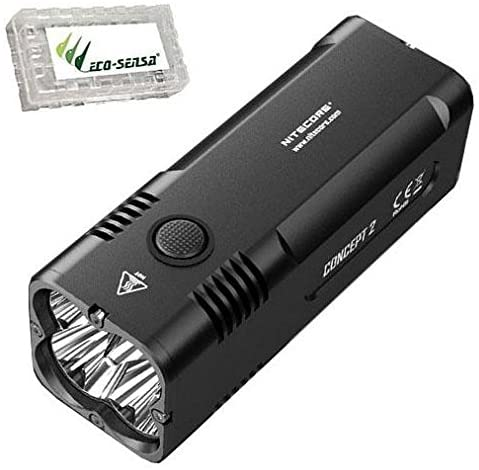 NITECORE Concept 2 Flashlight/Searchlight -6500 Lumens -Built-in 12400mAh Li-ion battery -CREE XHP35 HD LED w/Free Eco-Sensa Battery Case