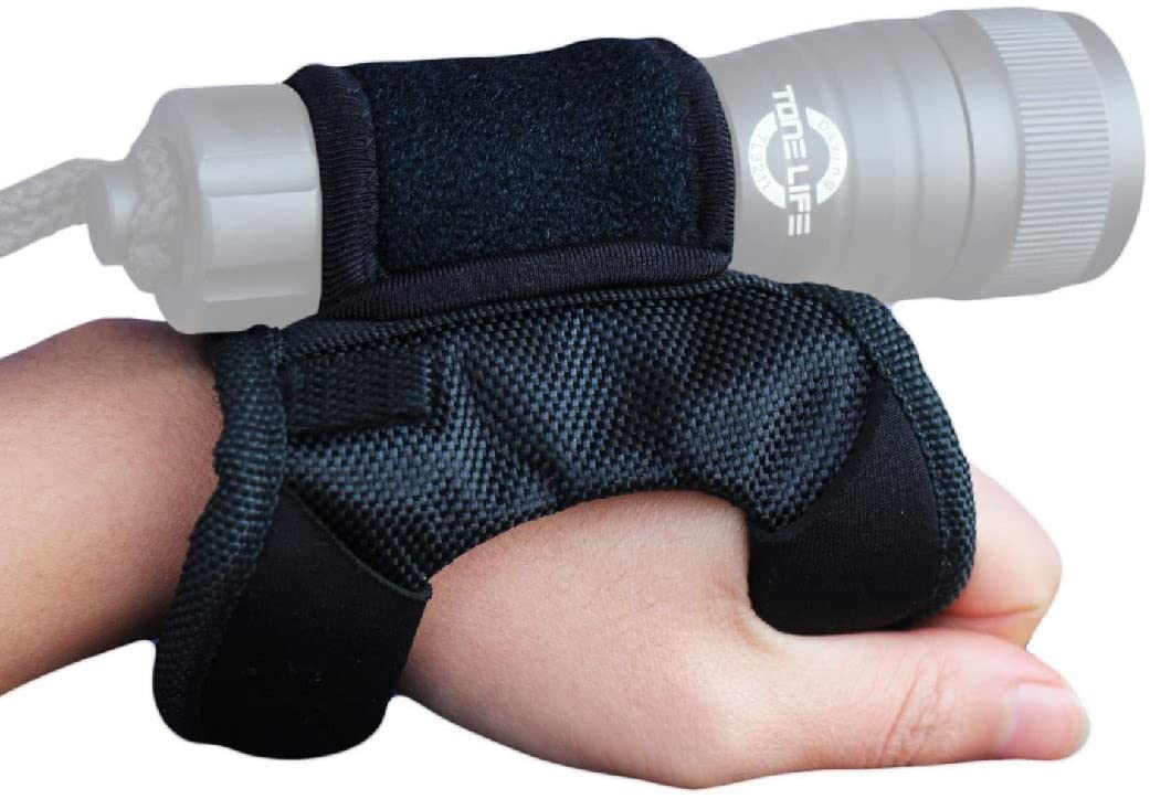 Tonelife Soft Goodman Style Glove 03 Hand & Arm Strap Nylon Wrist Strap for Led Flashlight Diving Torch Max Dia.4CM (Without Torch)