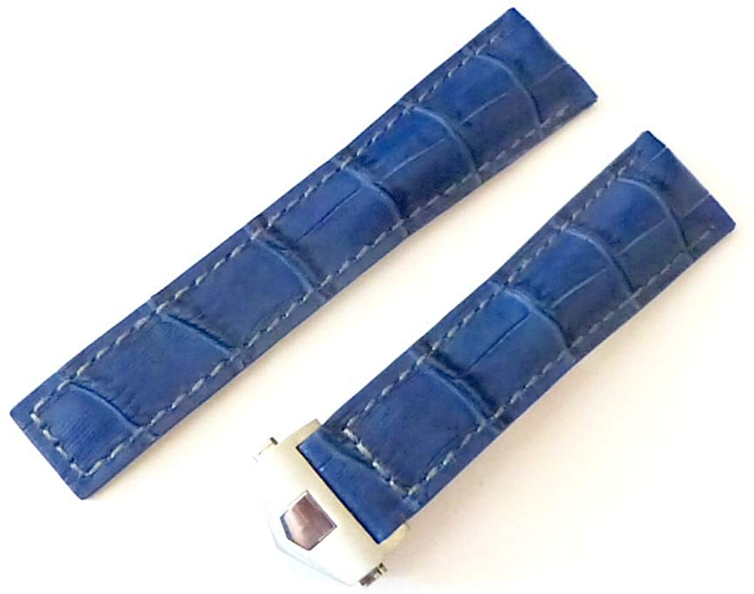 20mm Navy-Blue Watch Band Strap with Deployment Clasp Replacement TAG