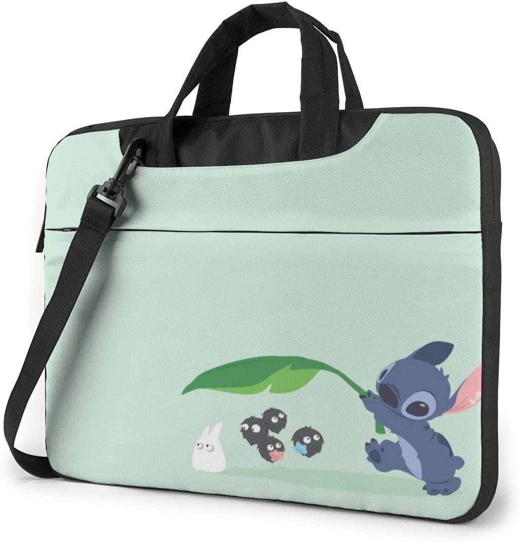 13 Inch Laptop Bag Lilo and Stitch Laptop Briefcase Shoulder Messenger Bag Case Sleeve
