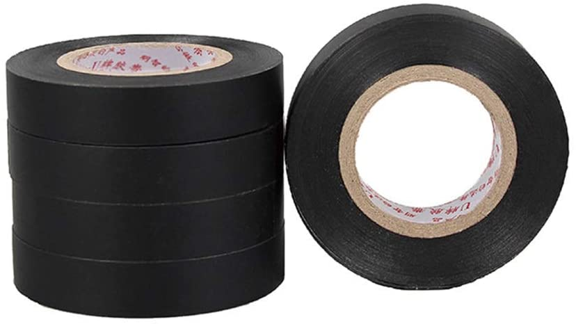 General-Purpose PVC Electrical Insulation Tape Electrical Tape Auto Repair Home Improvement Wear-Resistant Moisture-Proof Acid and Alkali Resistance(5 Rolls) (Size : 1.7cm)