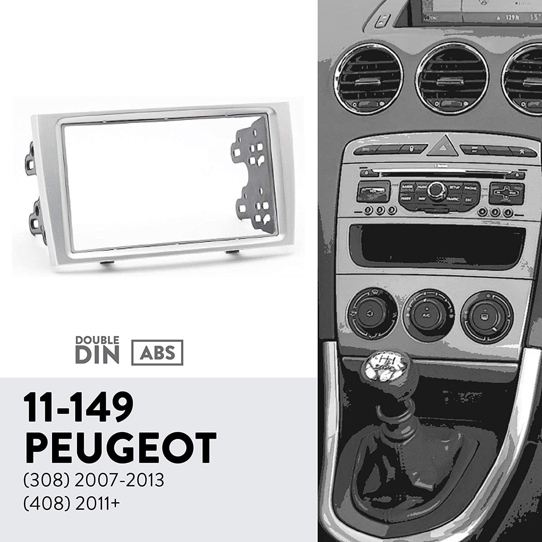 UGAR 11-149 Trim Fascia Car Radio Installation Mounting Kit for Peugeot (308) 2007-2013, (408) 2011+