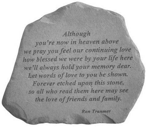 Although You'Re Now In Heaven Above Memorial Garden Stone