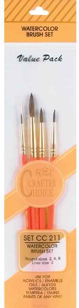 Royal Langnickel Crafters Choice Watercolor Brush Set 4/Pkg